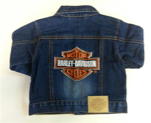 Harley Davidson Baby Boy Denim Jacket Leather Bound Online