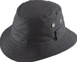 "Henschel Black ""Adventurer"" Oil Cloth Bucket Hat"