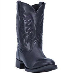 Laredo Mens Leather Short Cowboy Boots
