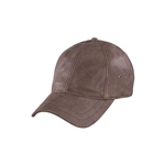 Brown Leather Baseball Hat