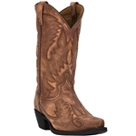 Laredo Mens Leather Western Boots: Brown Garrett