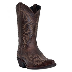 Free Shipping Laredo Mens Midnight Rider Brown Leather