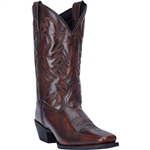 Laredo Lawton Leather Western Boots: Brown Cowboy