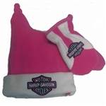 Harley-Davidson Toddler Girls Winter Hat & Mittens
