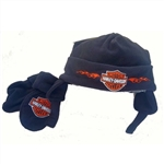 Harley-Davidson Infant Fleece Winter Hat & Mittens