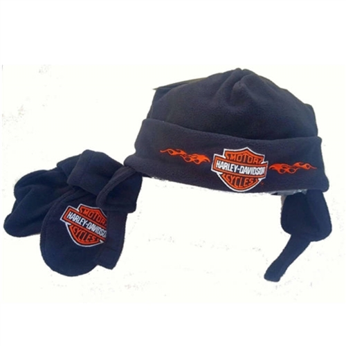 Harley-Davidson Infant Fleece Winter Hat   Mittens 5c217a57bae