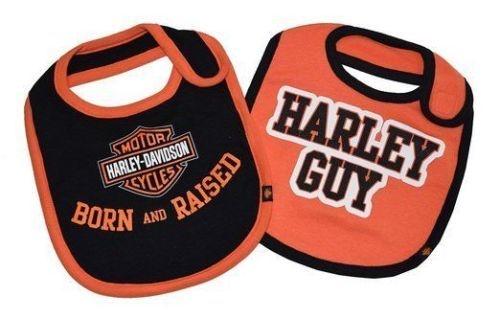 Flannel Motorcycle Jacket >> Harley-Davidson Baby Apparel - Boys Bib Gift Set - Leather ...
