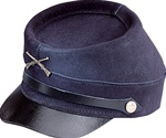 Henschel Replica Civil War Kepi Leather Cap