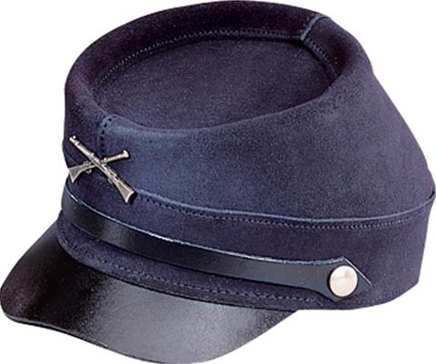 USA Made Henschel Replica Civil War Kepi Cap l Blue Leather 5fb260a6d0e5