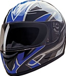 Full Face Motorcycle Helmets - Lightweight Blue Blade