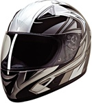 Silver Blade Full Face Motorcycle Helmets: HCI-75
