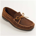 Men's Hard Sole Brown Minnetonka Moccasins
