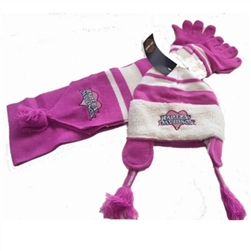 Harley-Davidson Little Girls Winter Hat, Gloves & Scarf