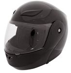 Full Face Flip Up Motorcycle Helmets Gloss Black