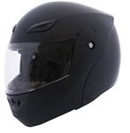 Full Face Flip Up Motorcycle Helmets Matt Black