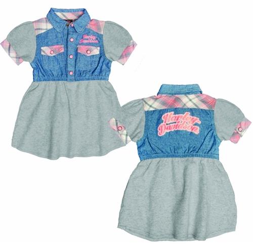 Harley Davidson Infant Girl Clothes Denim Dress
