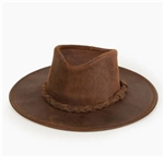 Leather Cowboy Hats - Minnetonka Brown Western Hat