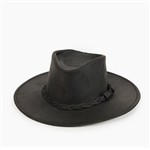 Minnetonka Cowboy Hats: Black Outback Leather