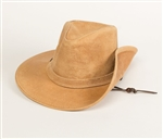 Leather Cowboy Hats - Minnetonka Tan Aussie Western Hat