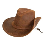 Minnetonka Moccasin Brown Aussie Ruff Leather Hat