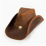 Leather Cowboy Hats Brown Minnetonka Silverton Western Hat