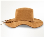 Minnetonka Leather Suede Floppy Hat