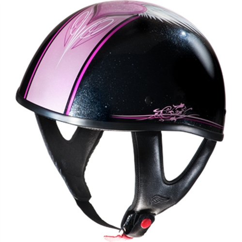 Fulmer Quot Cupid Pink Quot Half Motorcycle Helmet Leather Bound