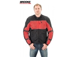 Black & Red Mesh Motorcycle Jacket Armored