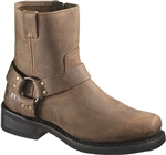Bates Men's Motorcycle Boots: Brown Harness