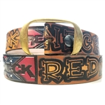 Redneck Rebel Embossed Leather Belt