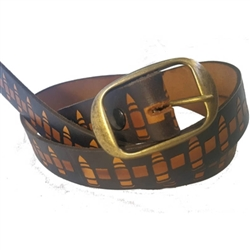 Men's Leather Belts: American Made Bullet Pattern
