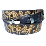 "Genuine Leather ""X-Rated"" Sex Print Belt"
