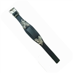 Black Leather Watch Band - USA Eagle
