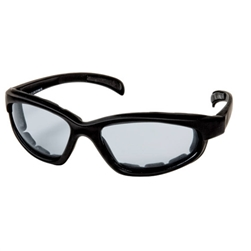 Padded Motorcycle Sunglasses - Clear Lens