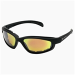 Padded Motorcycle Sunglasses - Red Revo Lens