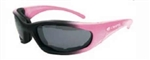Ladies Pink Padded Riding Glasses