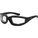Padded Motorcycle Glasses - Clear Lens
