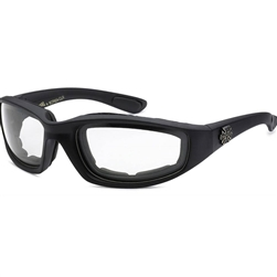 Padded Motorcycle Glasses - Clear Lens, Night Riding