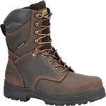 Carolina Waterproof Insulated Work Boots, Brown Leather