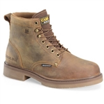 Carolina Mens Leather Work Boots CA3044 Lace-Up Brown