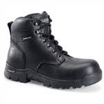 Black Leather Carolina Work Boots - Composite Toe Lace-Up