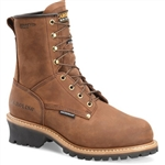 Carolina Steel Toe Work Boots, Elm Insulated Brown Logger