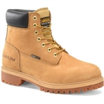 Mens Carolina Work Boots: Waterproof & Insulated Wheat Leather