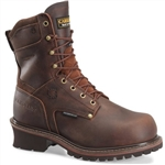 "9"" Waterproof Insulated Steel Toe Broad Toe Logger Boots"