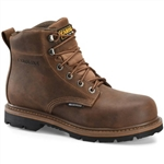 Carolina Work Boots: Waterproof Brown 6'' Lace-Up