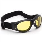 Padded Yellow Motorcycle Goggles for Night Riding
