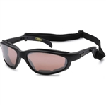 Padded Motorcycle Sunglasses w/ Strap, Choppers Amber Lens