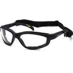 Padded Clear Biker Glasses for Night Riding, Choppers