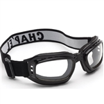 Fold-Up Motorcycle Goggles: Mirrored Clear