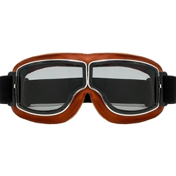 Choppers Retro Motorcycle Goggles, Smoke Lens